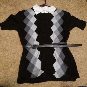 Sweater with belt  (petite) M